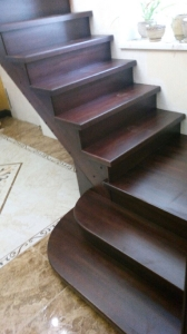 Закрытая деревянная лестница фото_196